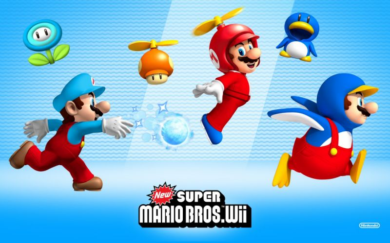 New super mario bros_ wii wallpaper