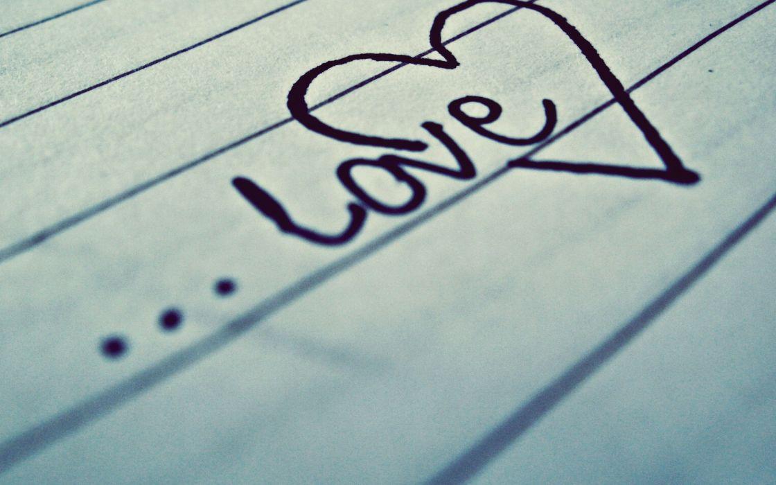 Heart love in script wallpaper