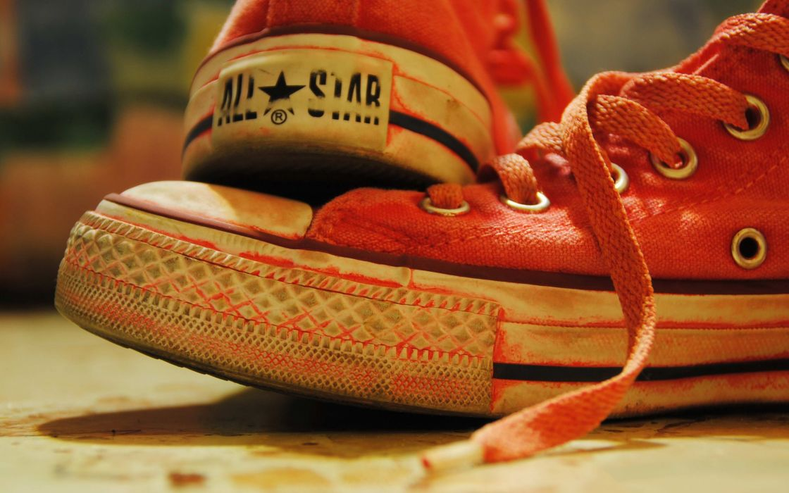 Red Converse All-Stars wallpaper