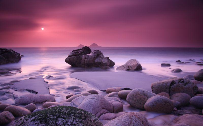 Rocks on the beach wallpaper