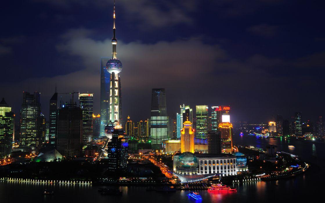 Shanghai nights - China wallpaper