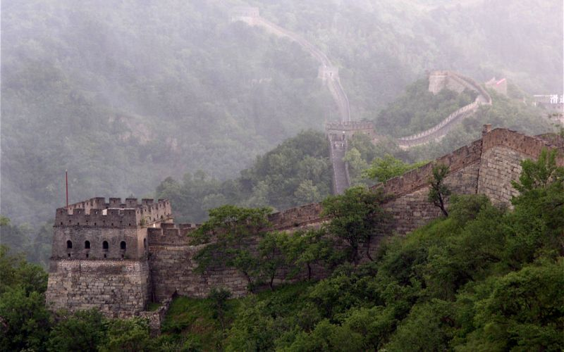 Chinese wall wallpaper