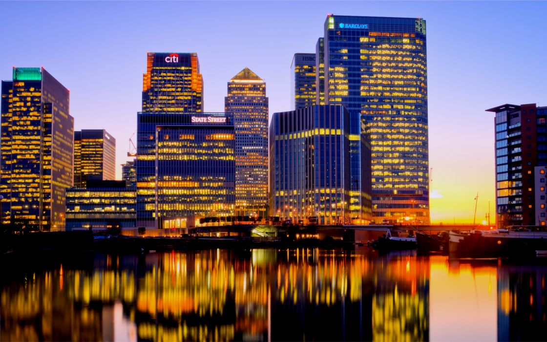 London Canary Wharf wallpaper