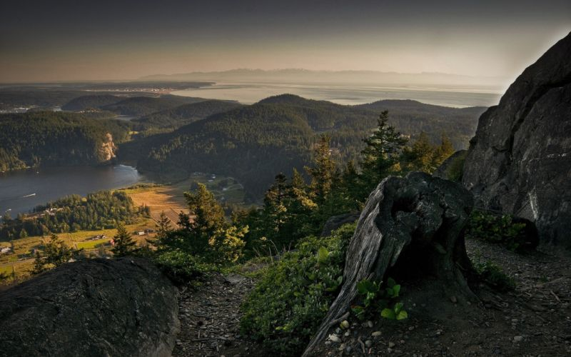 Panoramic view from the mountains wallpaper