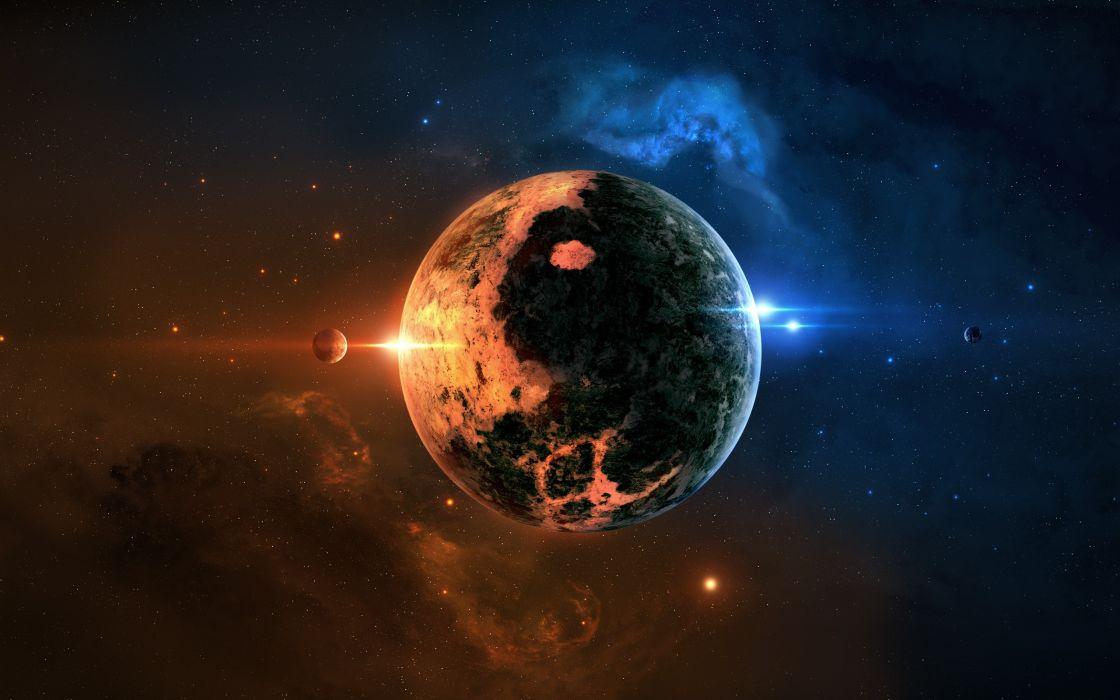 Yin-Yang planet wallpaper