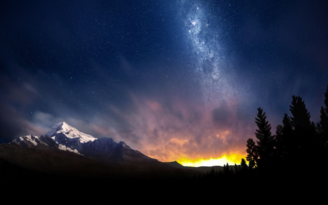 Swiss night sky wallpaper