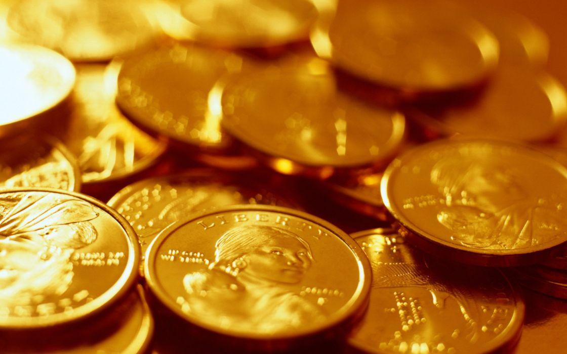 Gold coins wallpaper