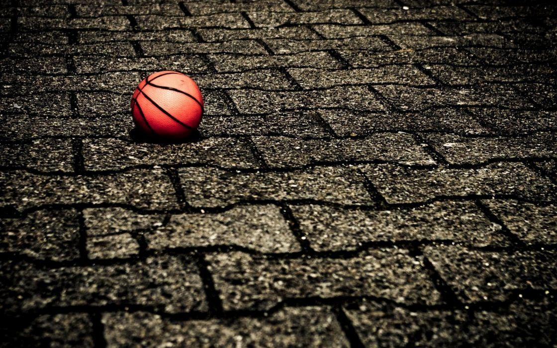 Ball on the street wallpaper