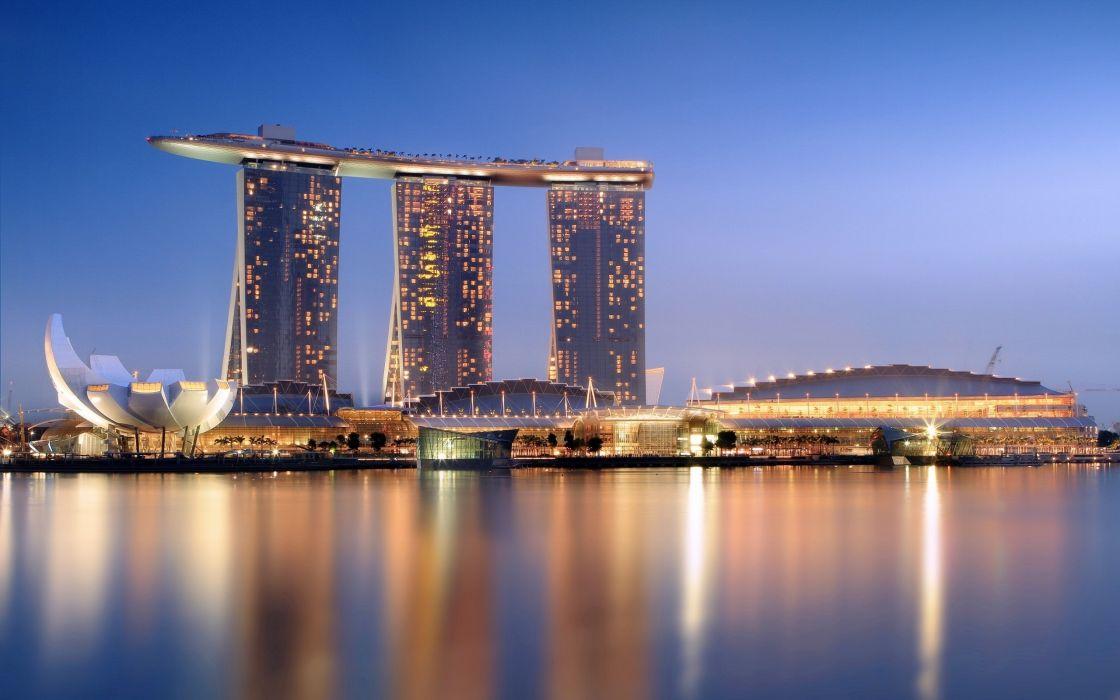 Marina bay sands resort hotel - Singapore wallpaper