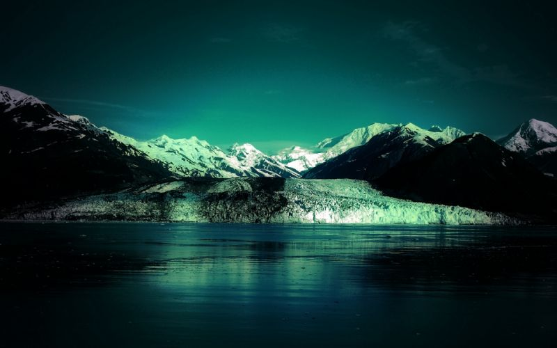 Icy waters wallpaper