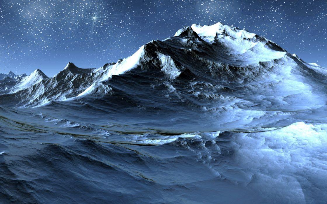 Stars mountains wallpaper