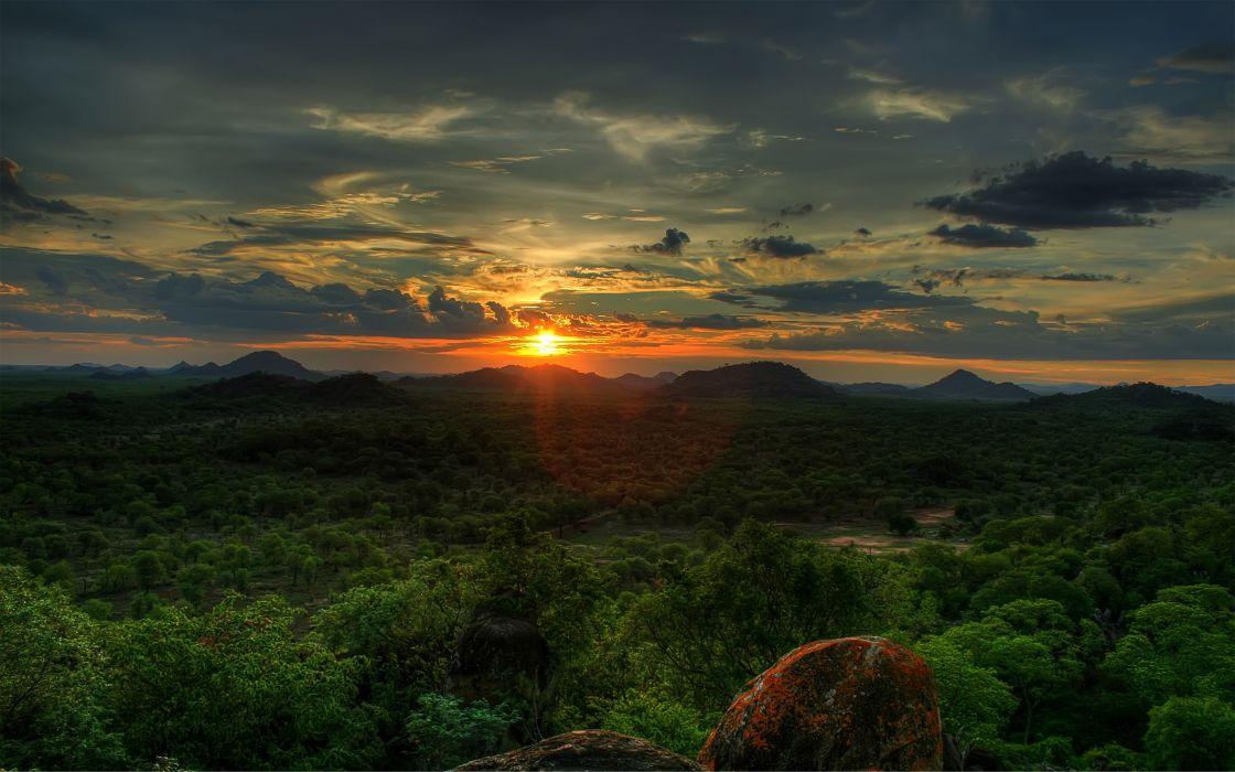 Sunset in Africa wallpaper