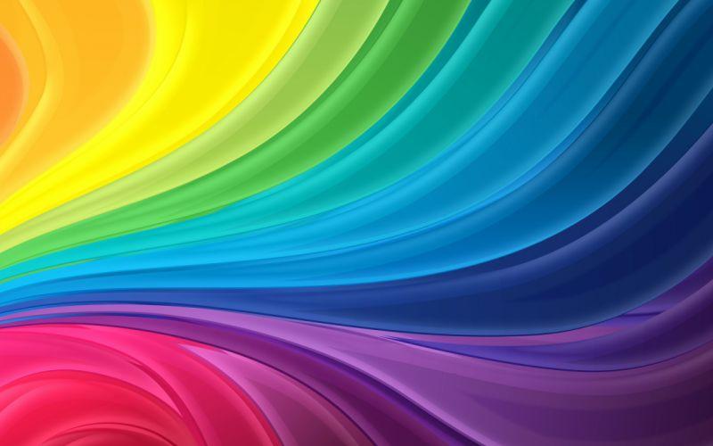 Curl rainbow wallpaper
