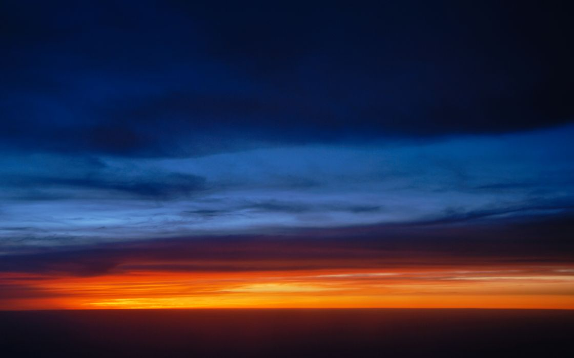 Red line sunset wallpaper