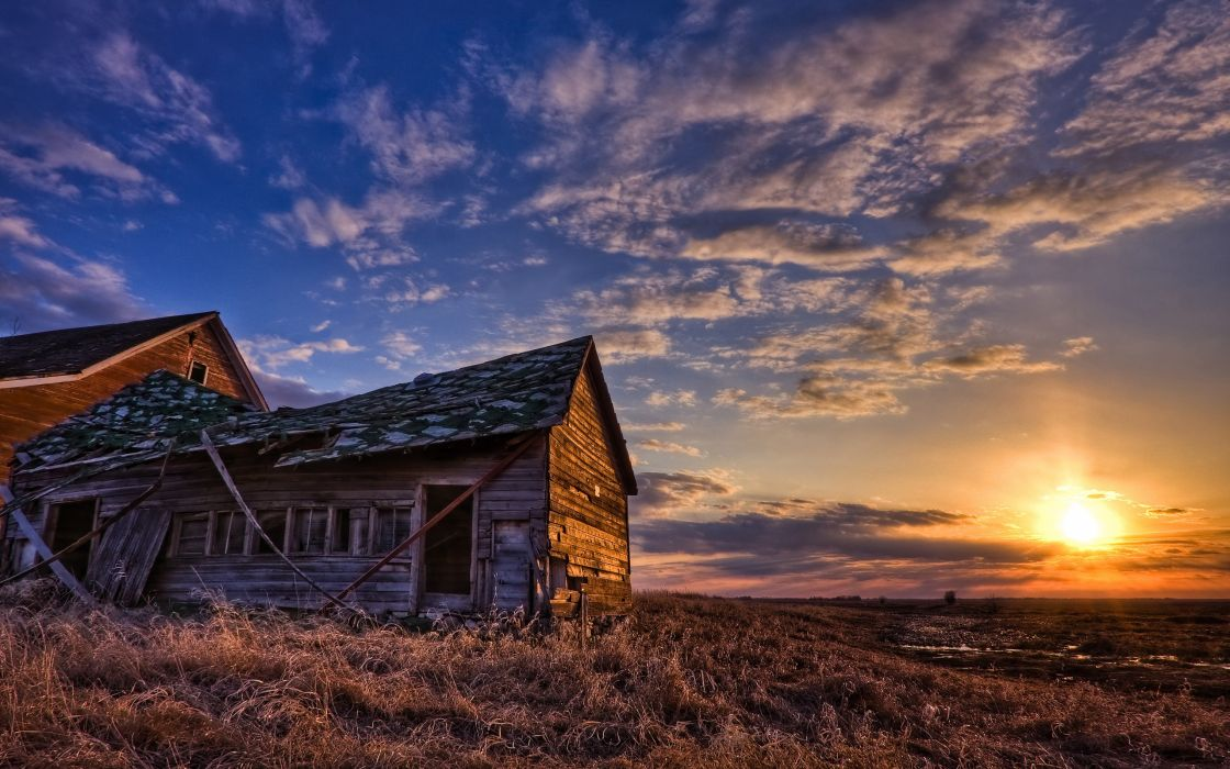 Sunset shack wallpaper