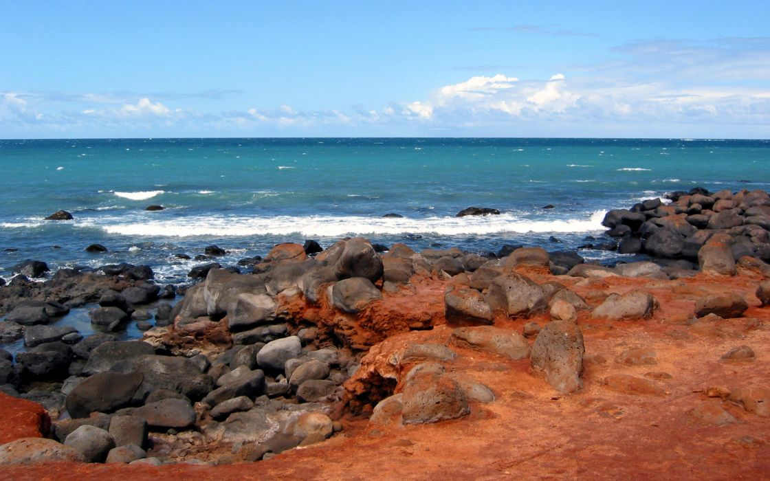 Volcanic coast wallpaper