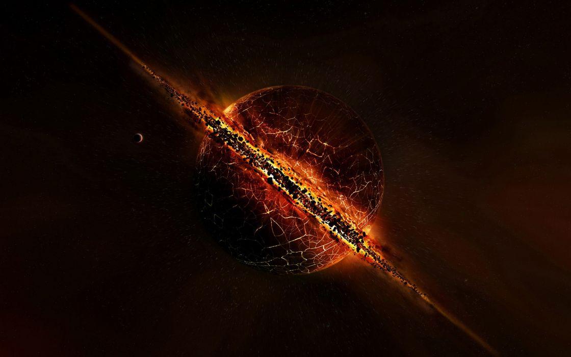 Exploding planets wallpaper