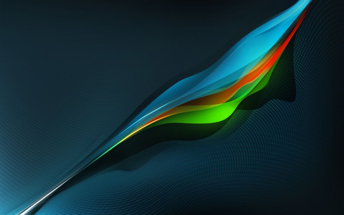 Colourful waves wallpaper