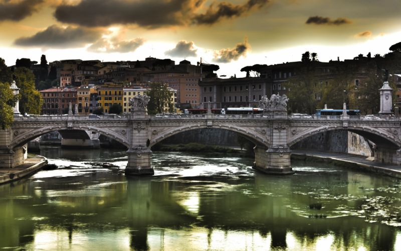 European Bridge wallpaper