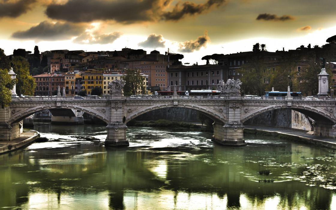 European Bridge wallpaper