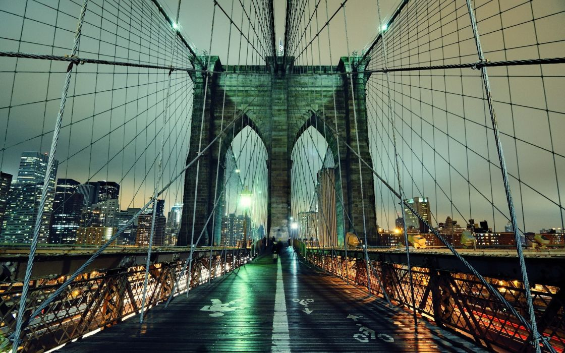 Brooklyn bridge hdr wallpaper