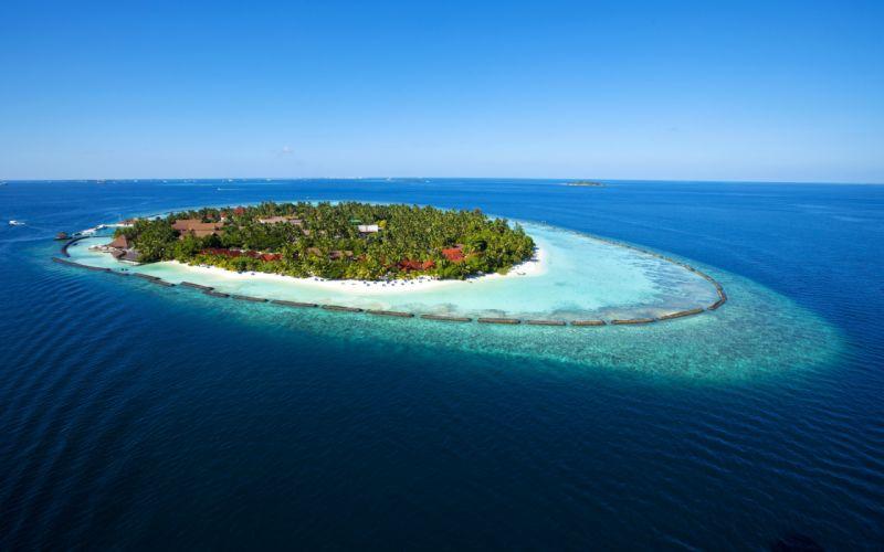 Amazing Maldives Island View wallpaper