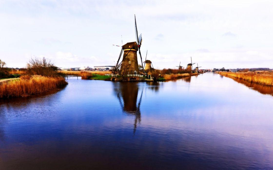 Dutch windmills wallpaper