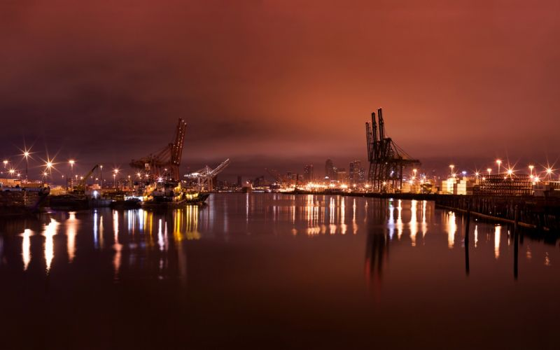 Seattle harbor wallpaper