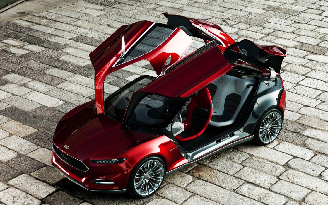 Ford Evos concept open doors wallpaper