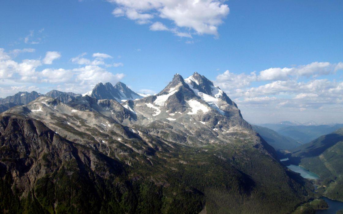 Mountains peaks wallpaper
