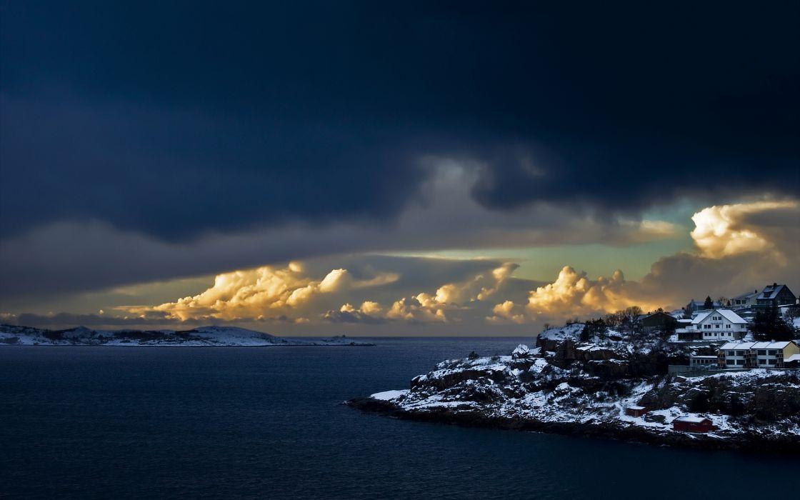 Norwegian coast wallpaper