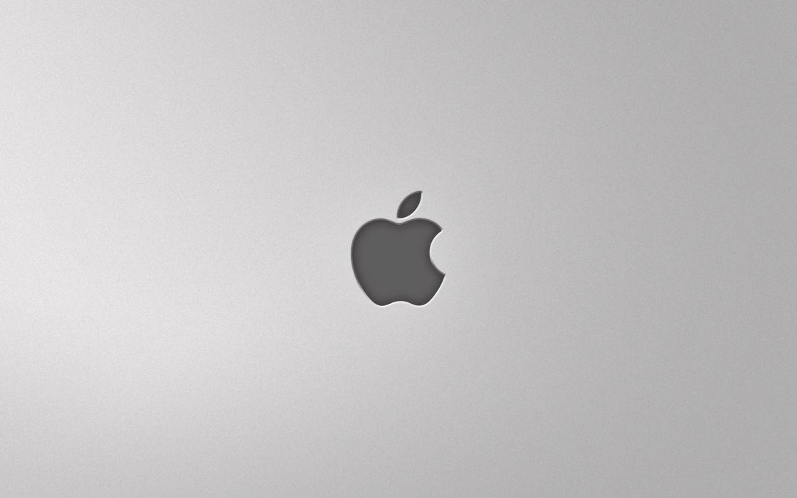 Minimal apple grey wallpaper