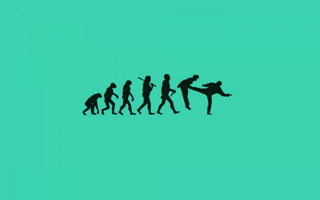 Human evolution wallpaper
