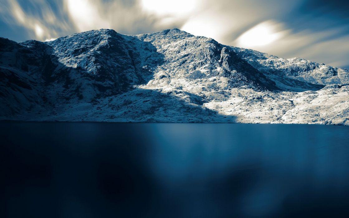 Lake and mountain wallpaper