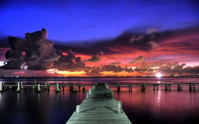 Colourful summer sunset wallpaper