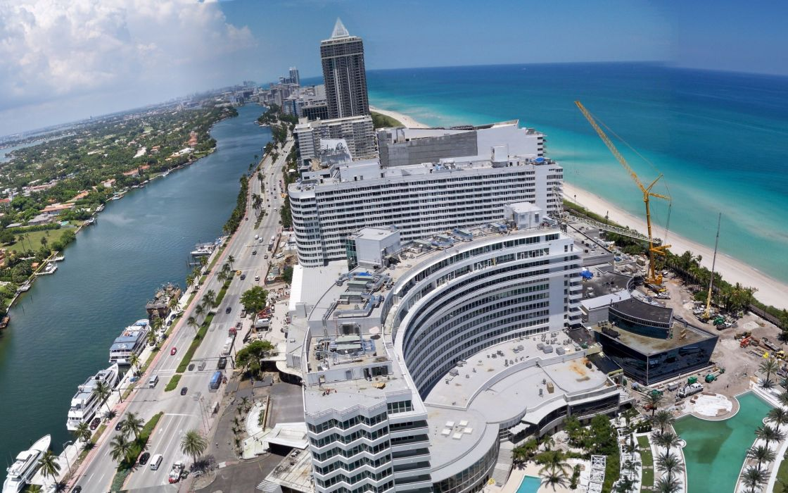 Miami city view wallpaper