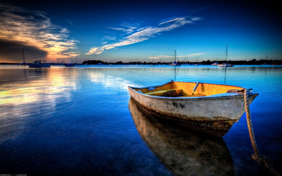 Exceptional boat anchored wallpaper