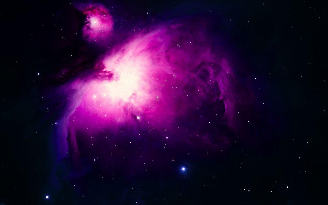 Purple Orion nebula wallpaper