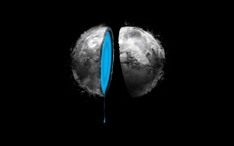 The planet split in half wallpaper