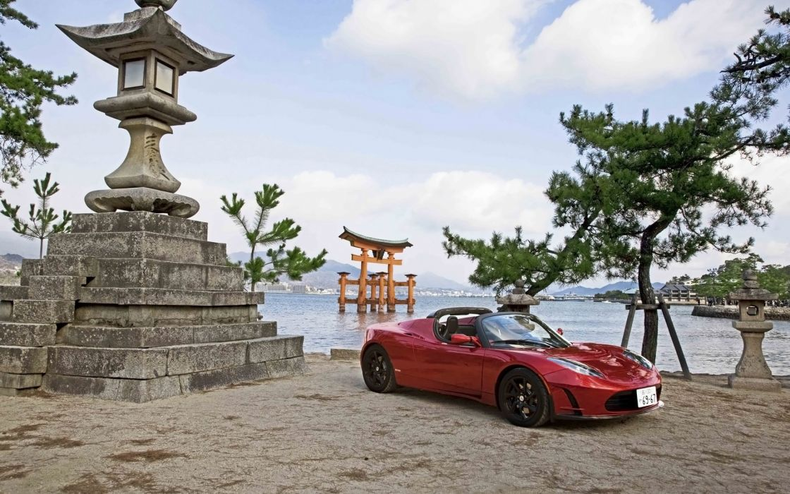 Tesla Roadster japan wallpaper