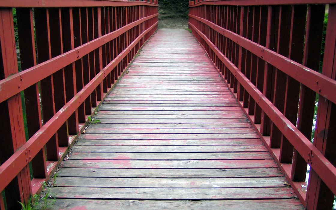 Narrow bridge wallpaper