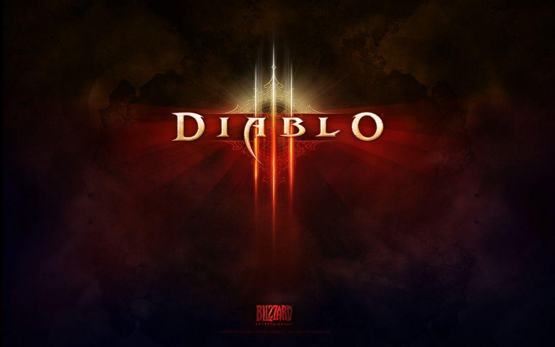 Diablo 3 game logo wallpaper
