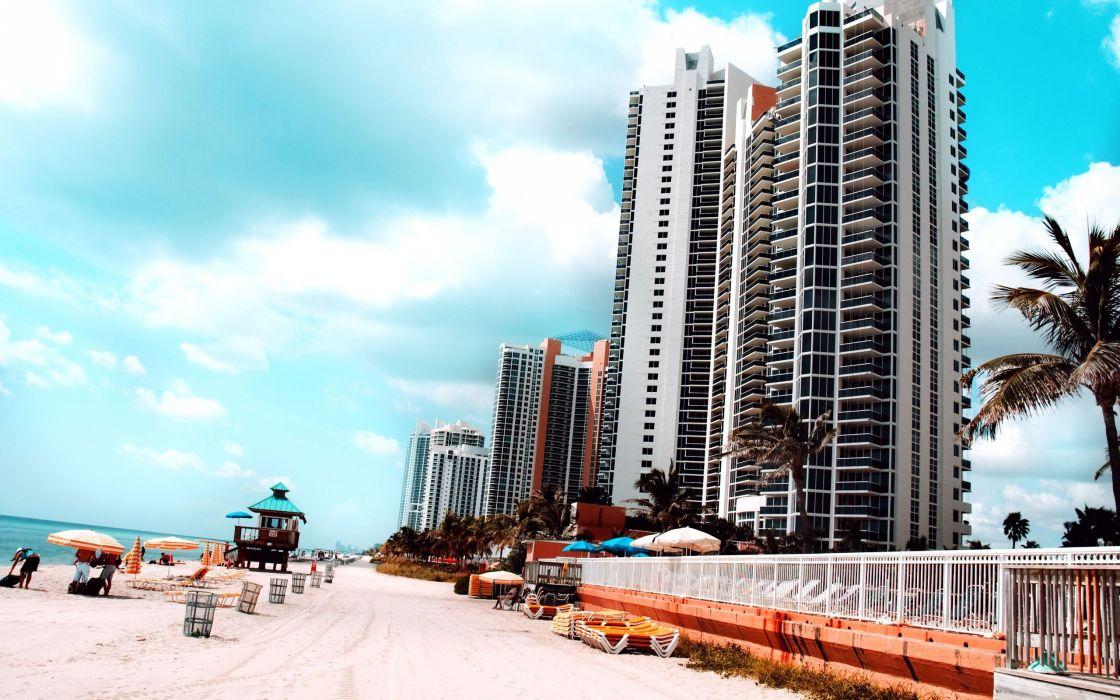 Miami skyscrapers wallpaper