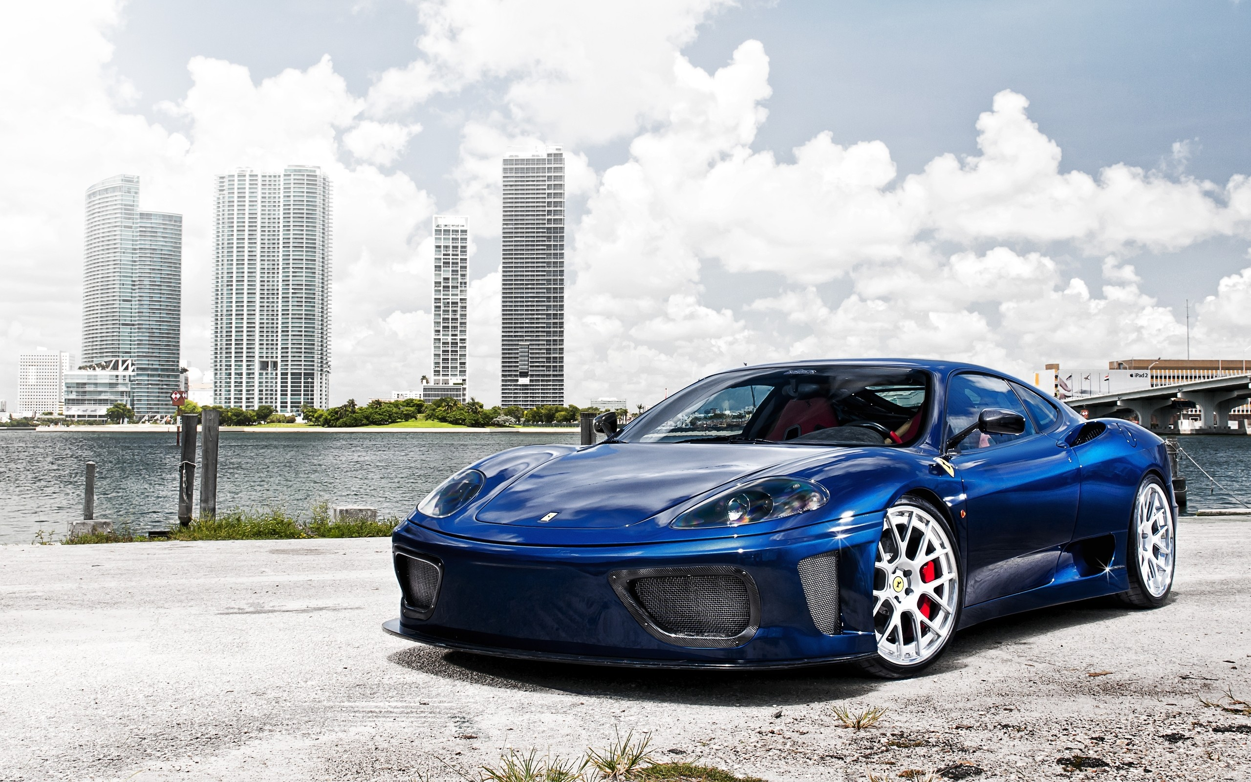 Blue Ferrari 360 Modena Wallpaper 2560x1600 4098 Wallpaperup