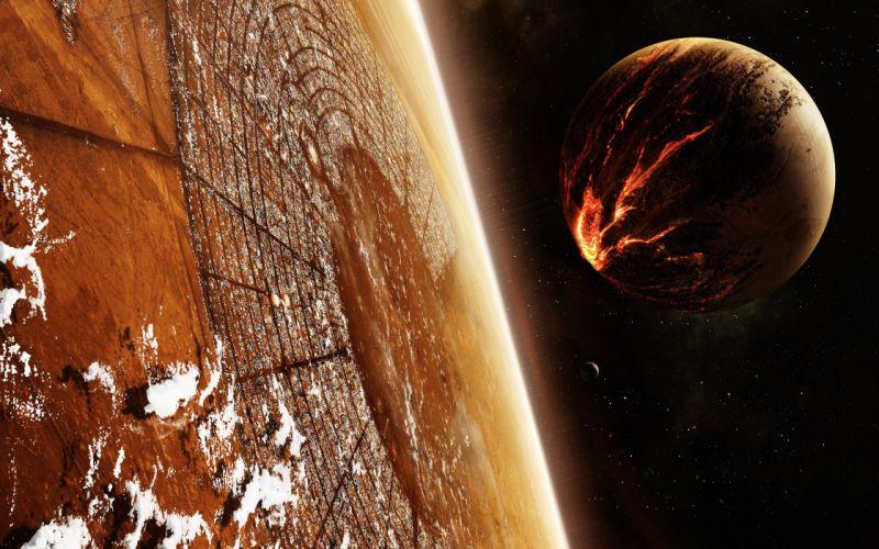 Space World Landscape wallpaper