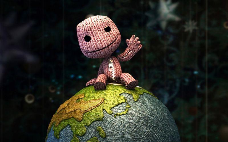 Happy pink mascot wallpaper