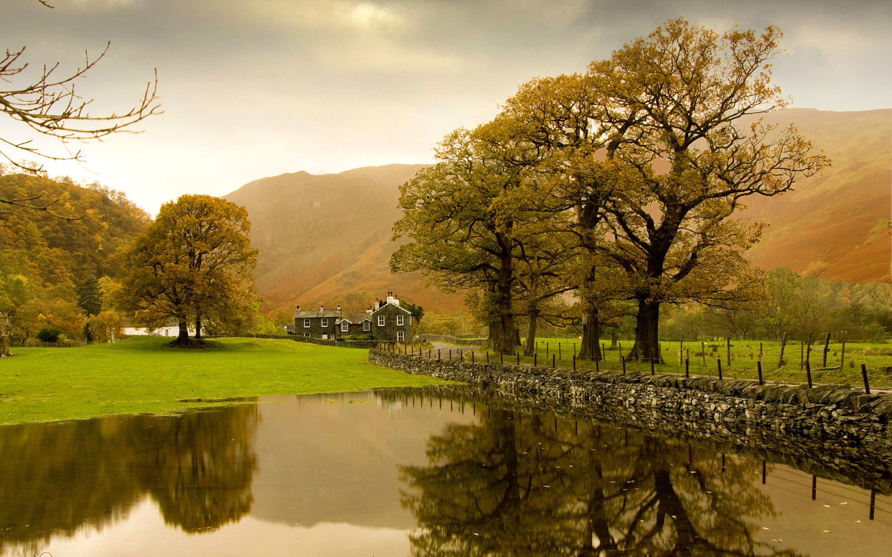 Autumn in the countryside wallpaper 2880x1800 4151 for Wallpaper home england