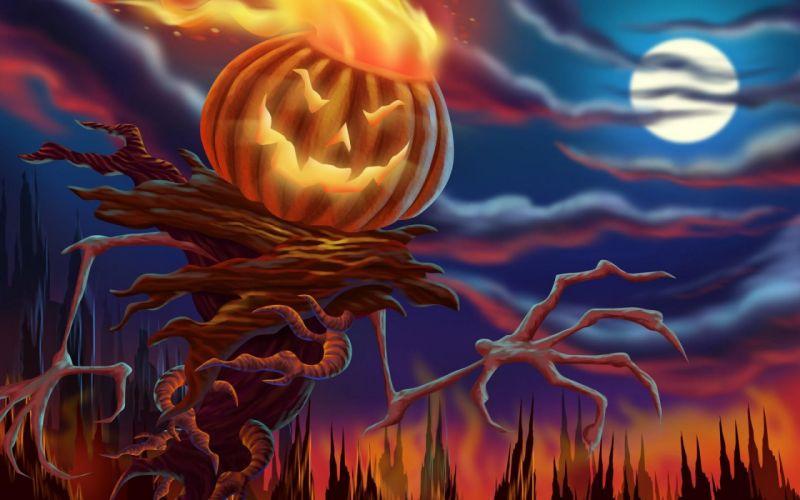 Halloween digital illustration wallpaper