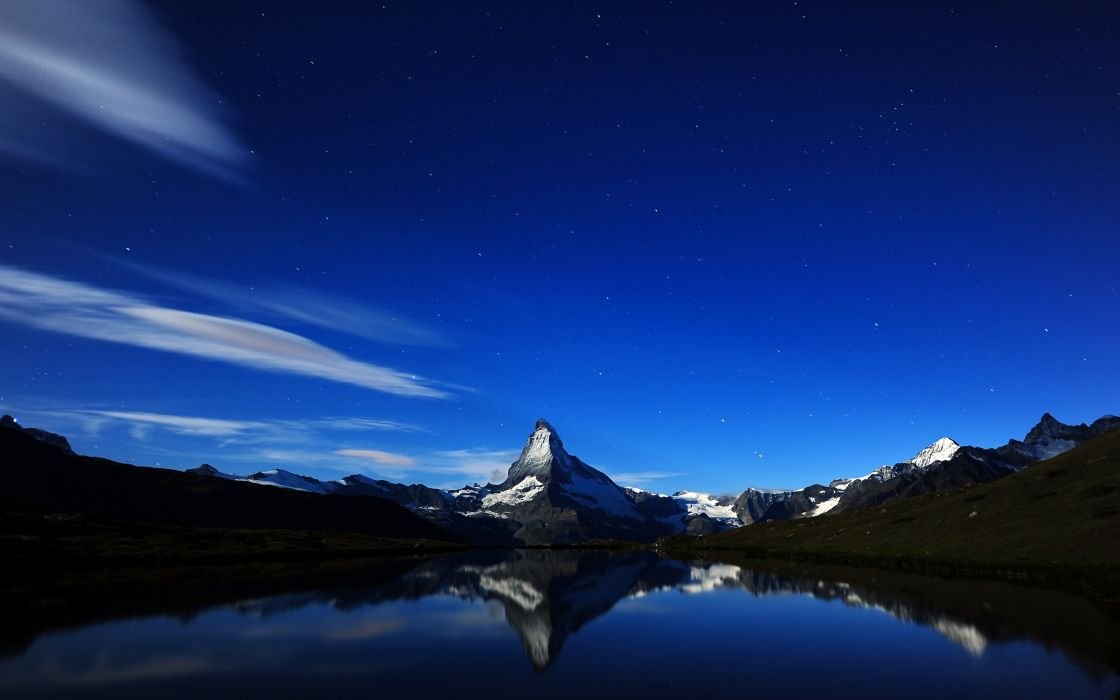 Mountain reflections wallpaper