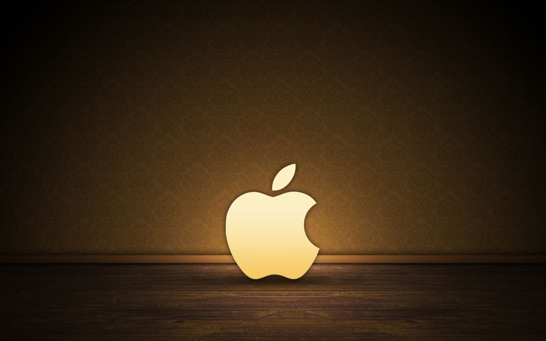 Brown Apple logo wallpaper